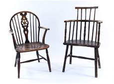 (2) ANTIQUE WINDSOR CHAIRS