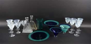 CONTEMPORARY ART GLASS GROUPING