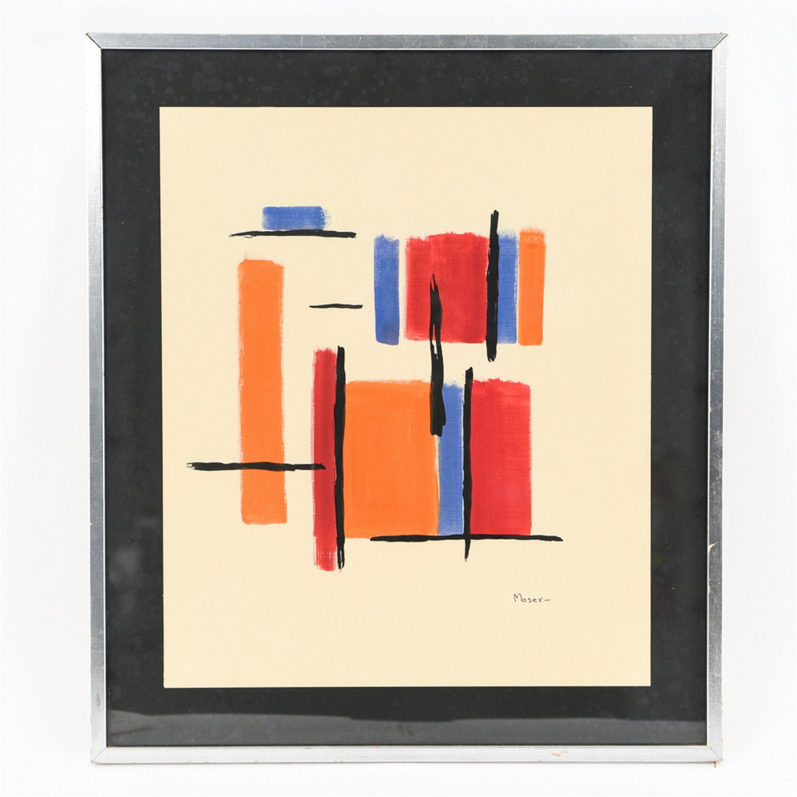 MODERN ABSTRACT SIGNED MOSER