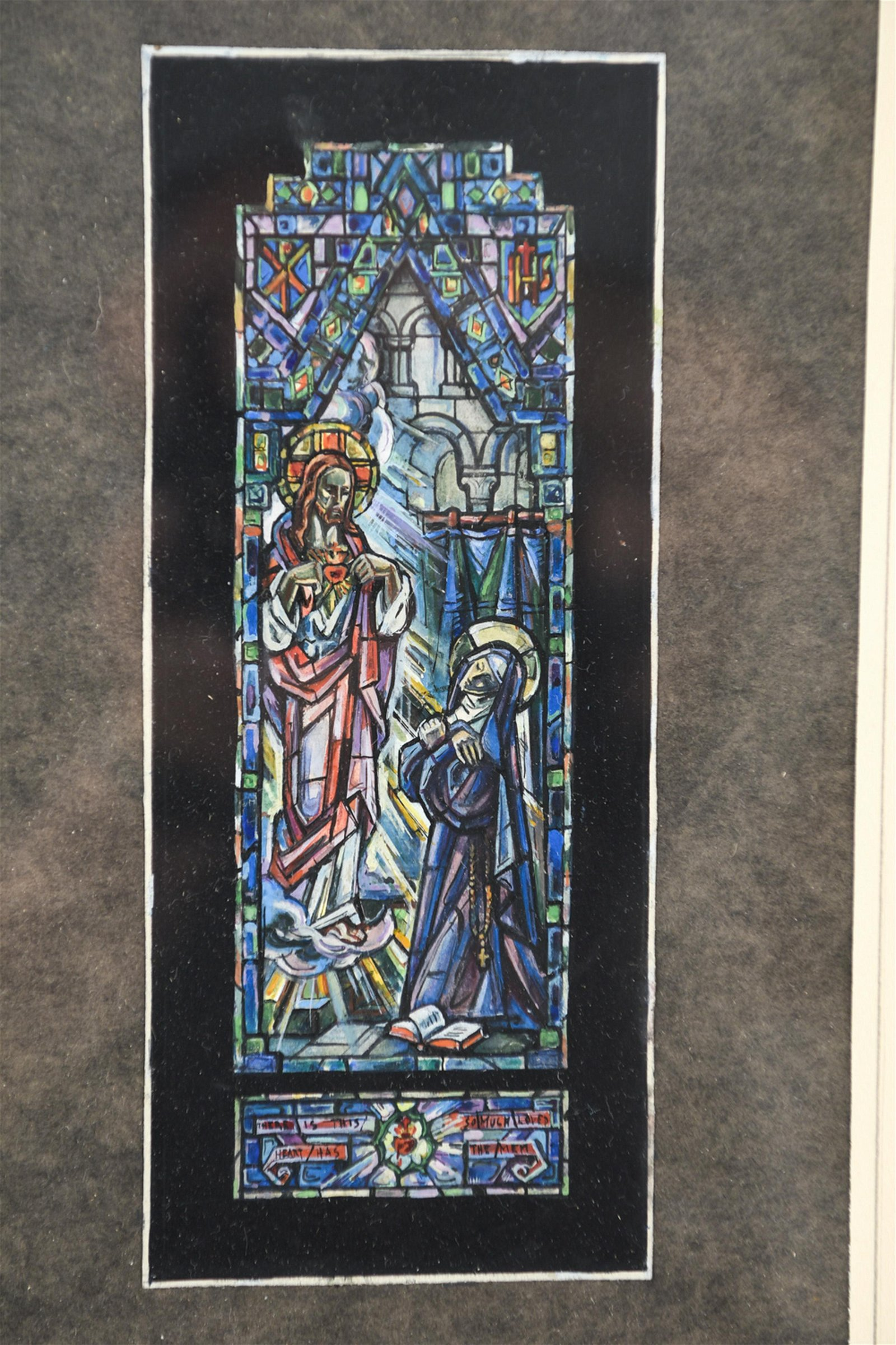 EARLY 1900'S STAINED GLASS WINDOW DESIGN