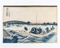KATSUSHIKA HOKUSAI 19TH CENTURY WOODBLOCK