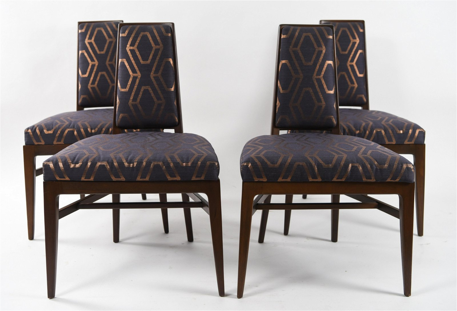 (4) MID-CENTURY SMALL BACK DINING CHAIRS