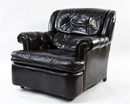Pleasant Mid Century Schafer Bros Leather Lounge Chair Machost Co Dining Chair Design Ideas Machostcouk