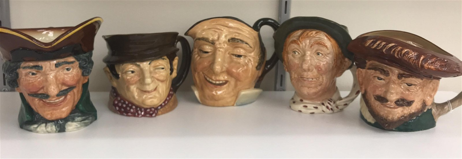 (5) ROYAL DOULTON TOBY MUGS