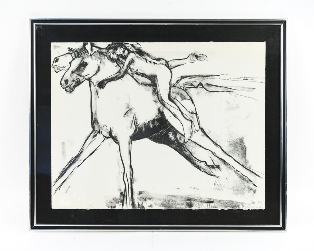 MARY FRANK PRINT OF HORSES
