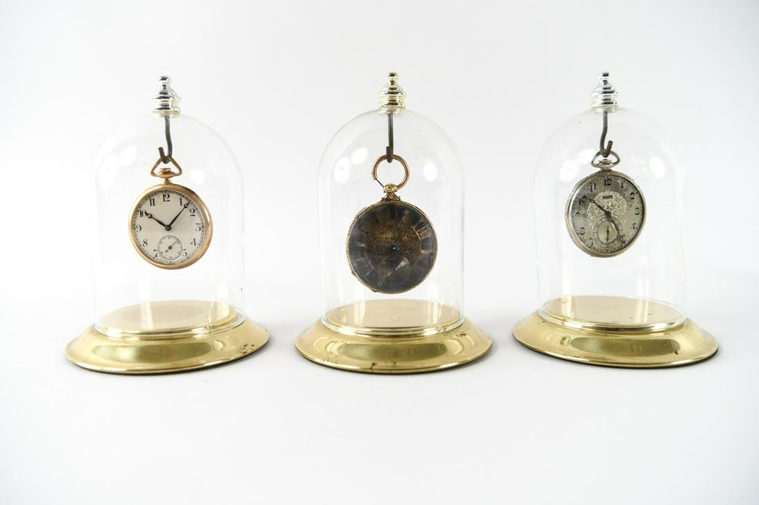 GROUPING OF POCKET WATCHES, INCL. GOLD