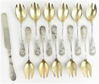 TIFFANY  CO STERLING SILVER ICE CREAM SPOONS