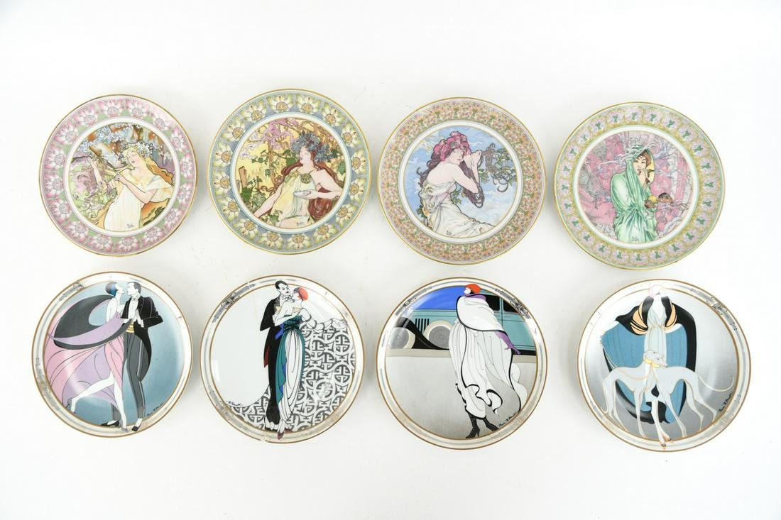 GROUPING OF PLATES INCL. MUCHA & ERTE LIKE DECO