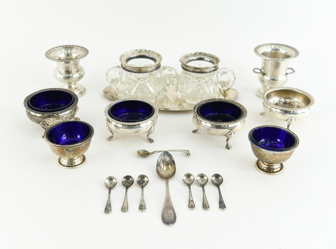 GROUPING OF SALTS INCLUDING STERLING SILVER