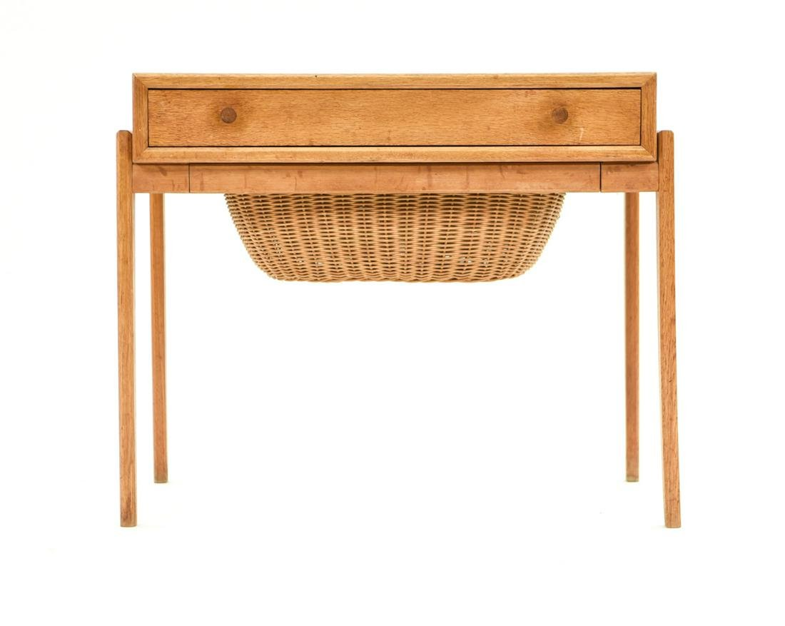 DANISH MID-CENTURY TEAK SEWING TABLE