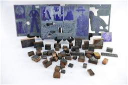 GROUPING OF PRINTING BLOCKS AND STAMPS