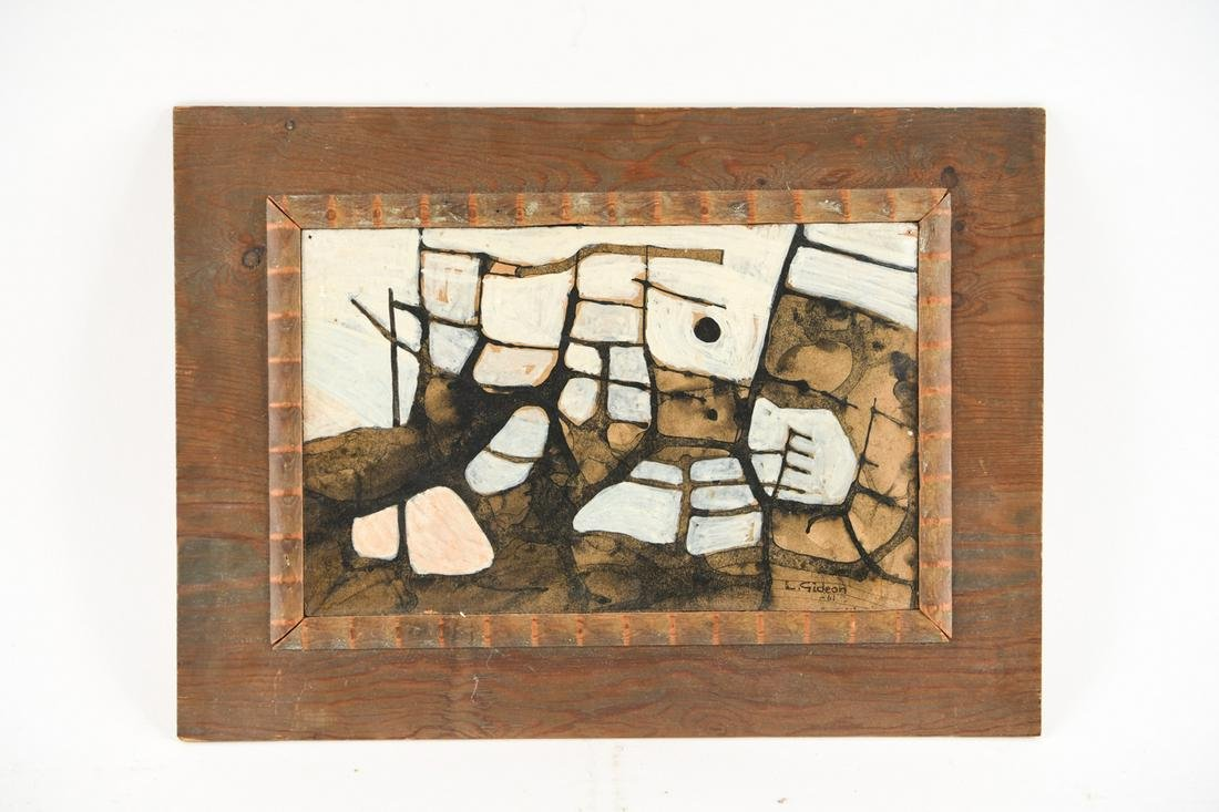 L. GIDEON (AMERICAN, 20TH C.) 1961 ABSTRACT