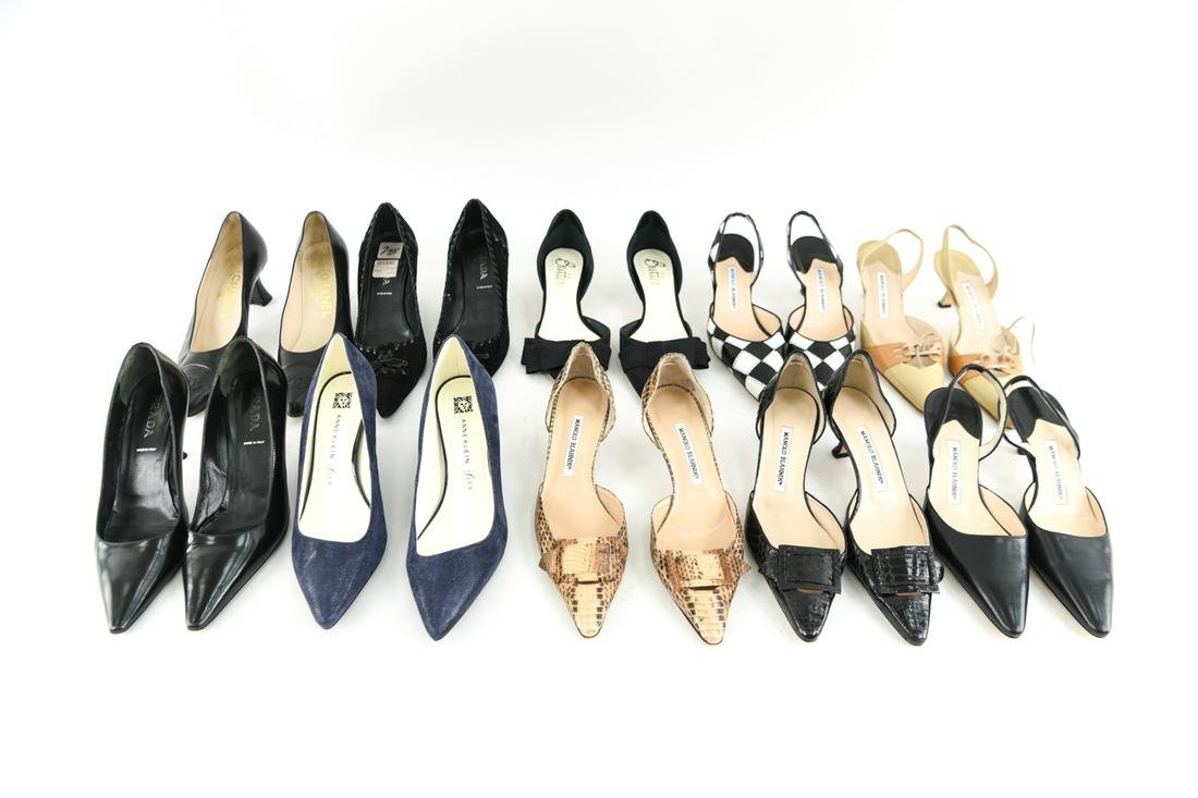 GROUPING OF DESIGNER SHOES INCL MANOLO