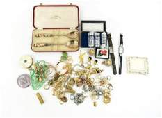 LARGE GROUPING OF COSTUME JEWELRY, ETC