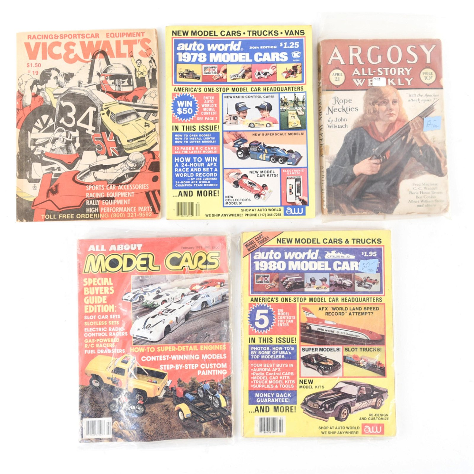 GROUPING OF VINTAGE MAGAZINES INCL. MODEL CARS