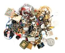LARGE GROUPING OF COSTUME JEWELRY