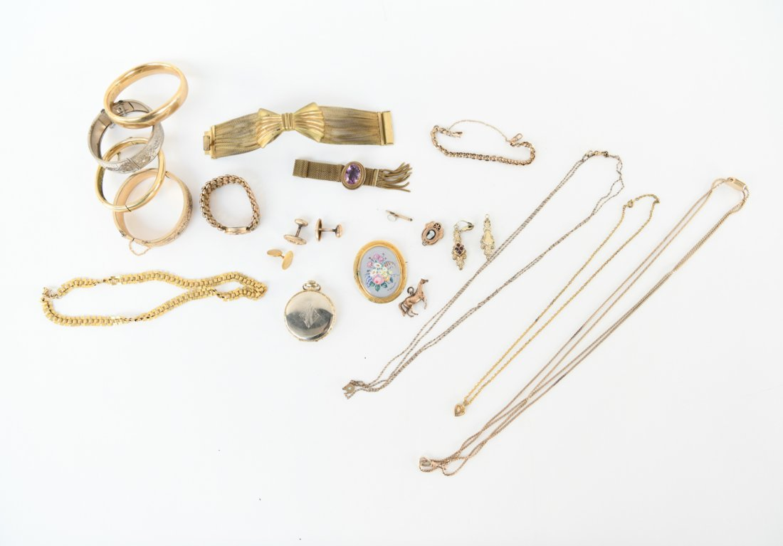 ANTIQUE GOLD FILLED JEWELRY GROUPING