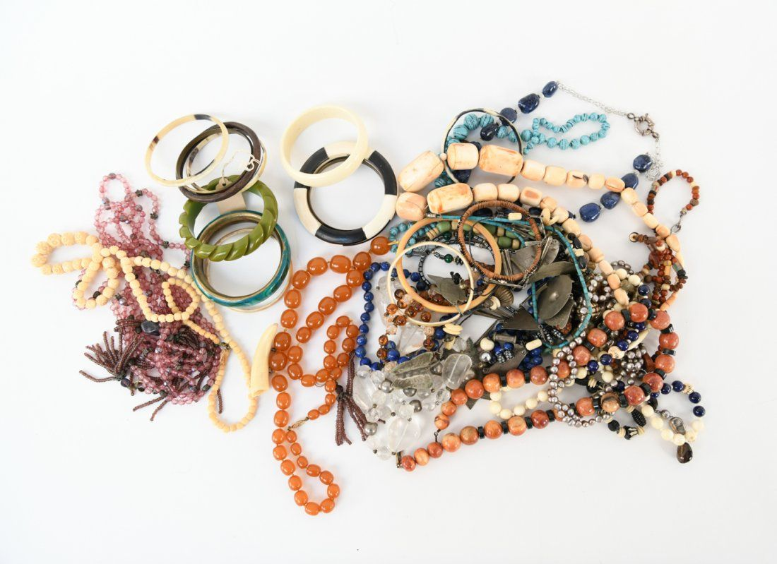 VINTAGE JEWELRY GROUPING INCL STONES
