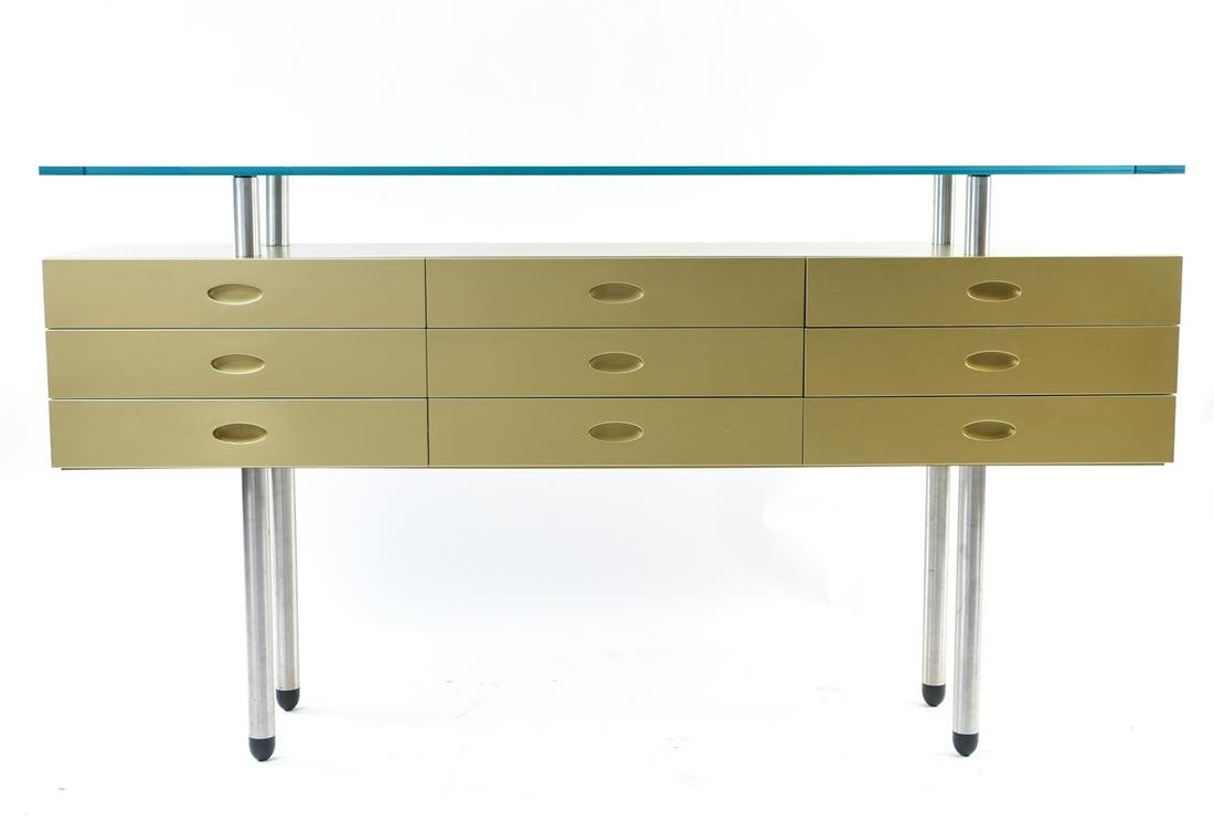 MODERN FLOATING GLASS SIDEBOARD CONSOLE