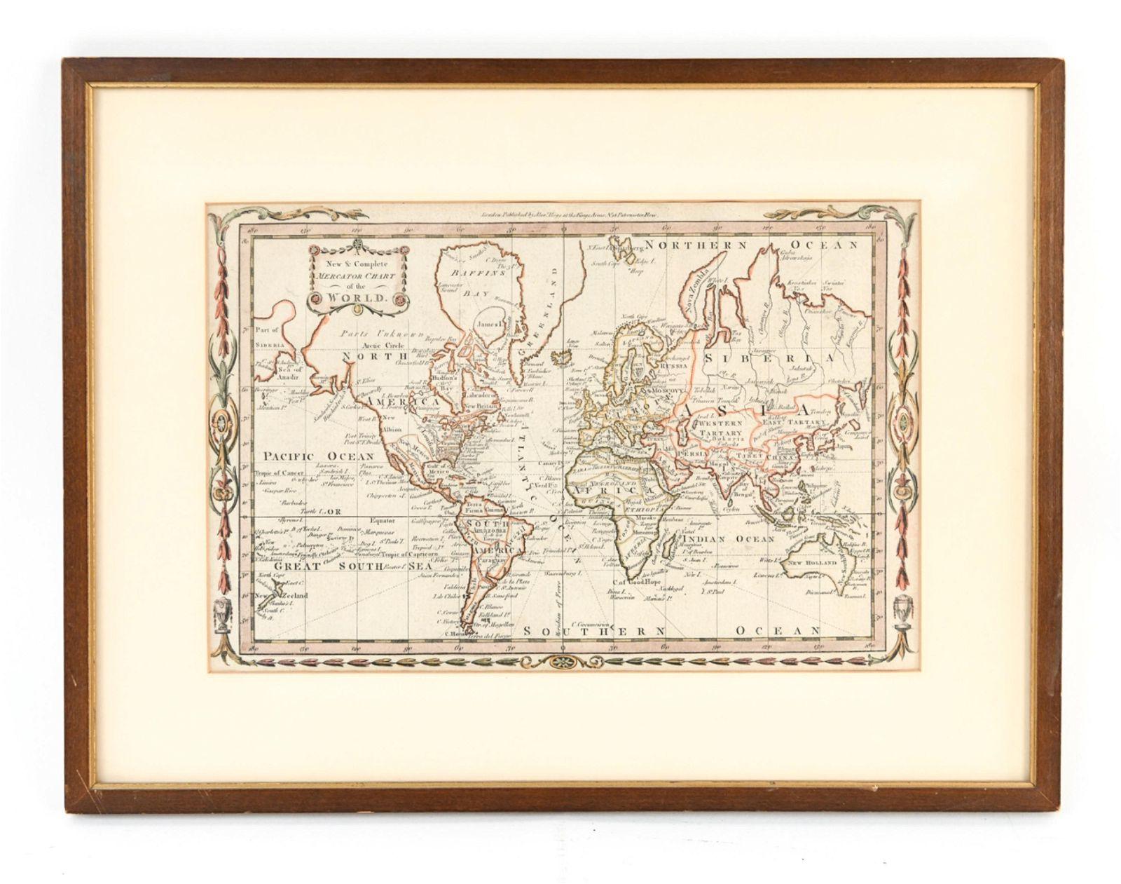 18TH C. ALEX HOGG WORLD MAP