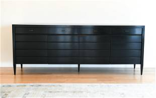 ATTR. TO BAKER BLACK LACQUERED SIDEBOARD