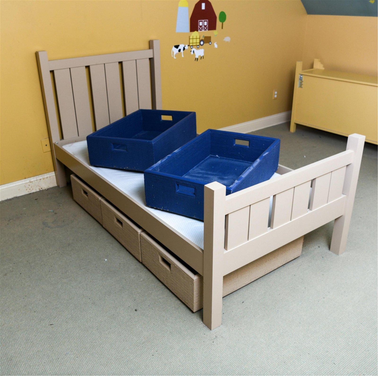MAINE COTTAGE TWIN BED & STORAGE BINS