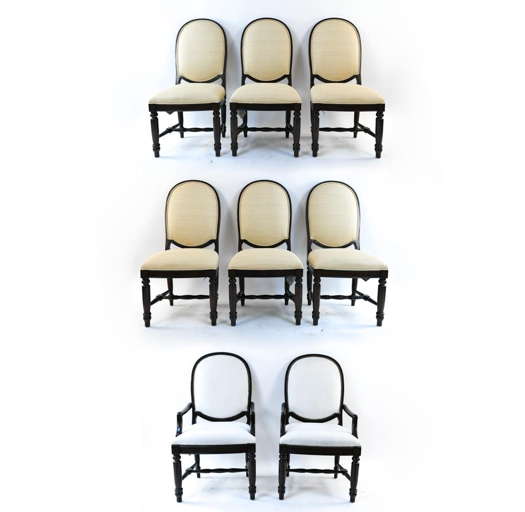 (8) CONTEMPORARY DREXEL DINING CHAIRS