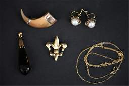 GROUPING OF ANTIQUE JEWELRY INCL GOLD  MIKIMOTO