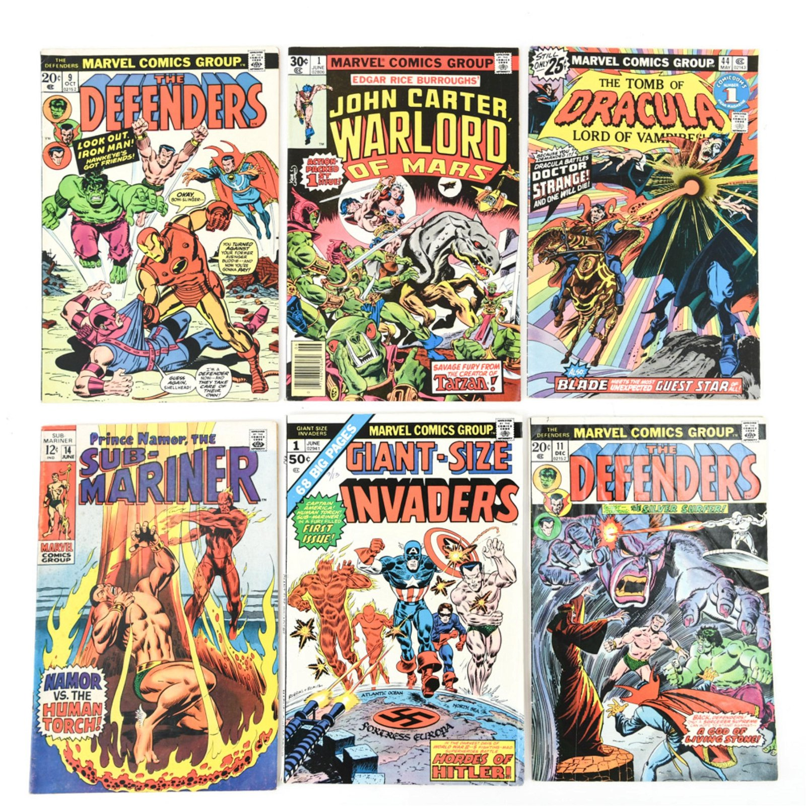 GROUPING OF VINTAGE MARVEL COMICS