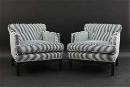 PAIR OF MICHAEL TAYLOR FOR BAKER LOUNGE CHAIRS