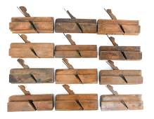 GROUPING OF ANTIQUE WOOD MOLDING PLANES