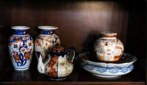 JAPANESE CERAMICS AND PORCELAIN GROUPING