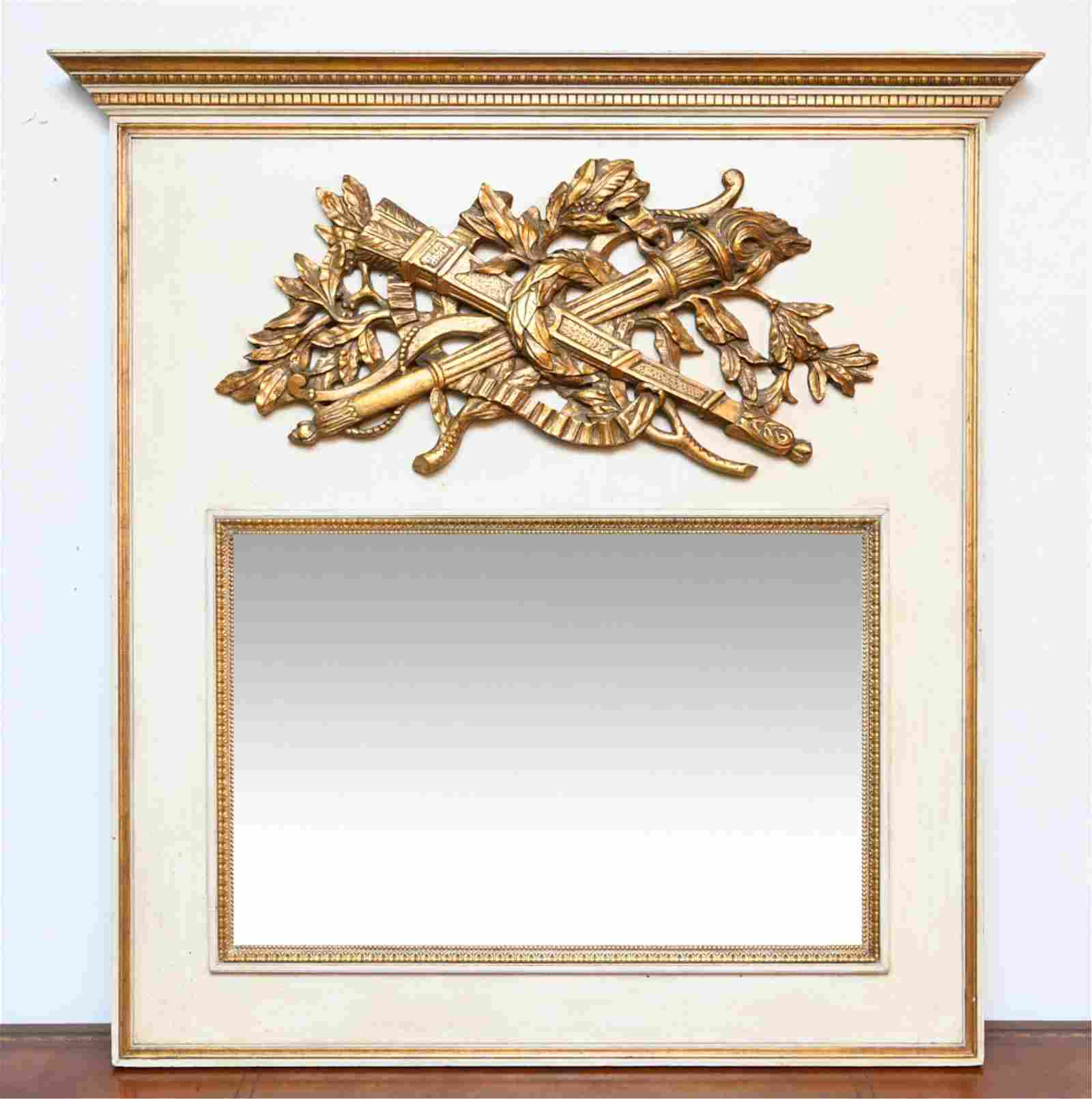 VINTAGE FRENCH STYLE TRUMEAU MIRROR
