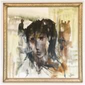 GINO HOLLANDER 19242015 OC ABSTRACT PORTRAIT
