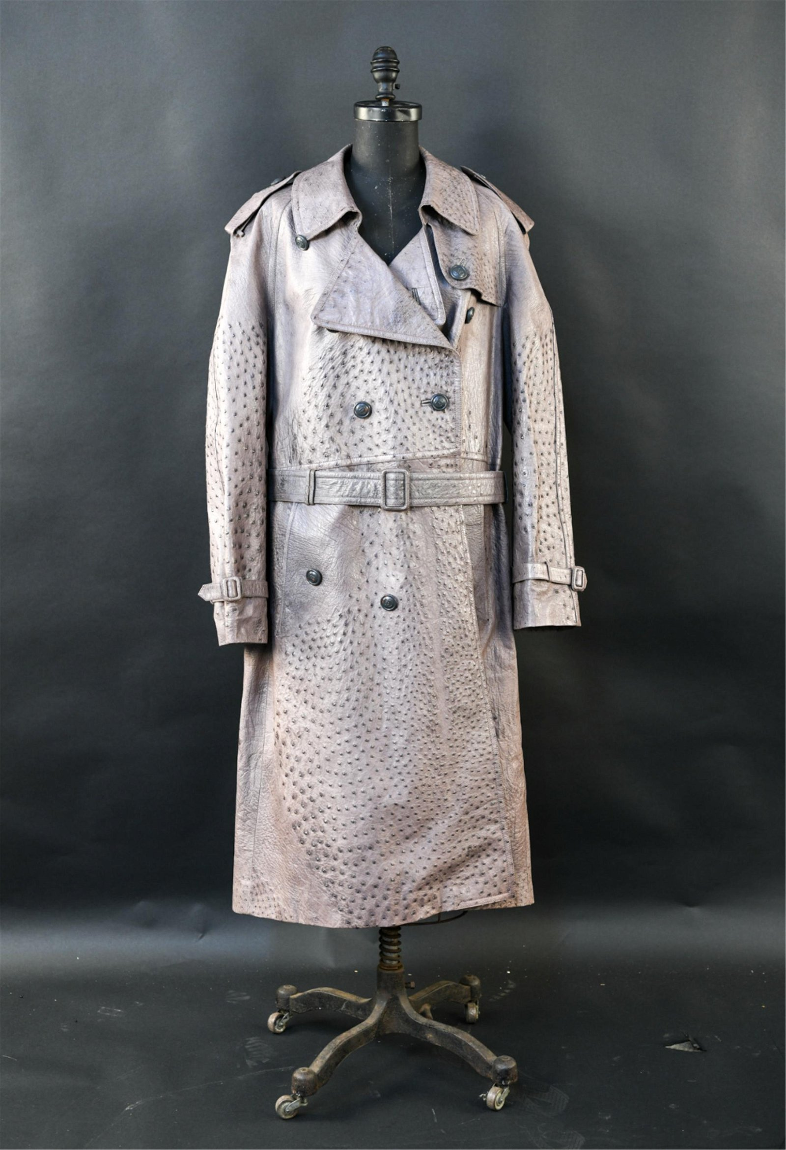VINTAGE GUCCI OSTRICH TRENCH COAT