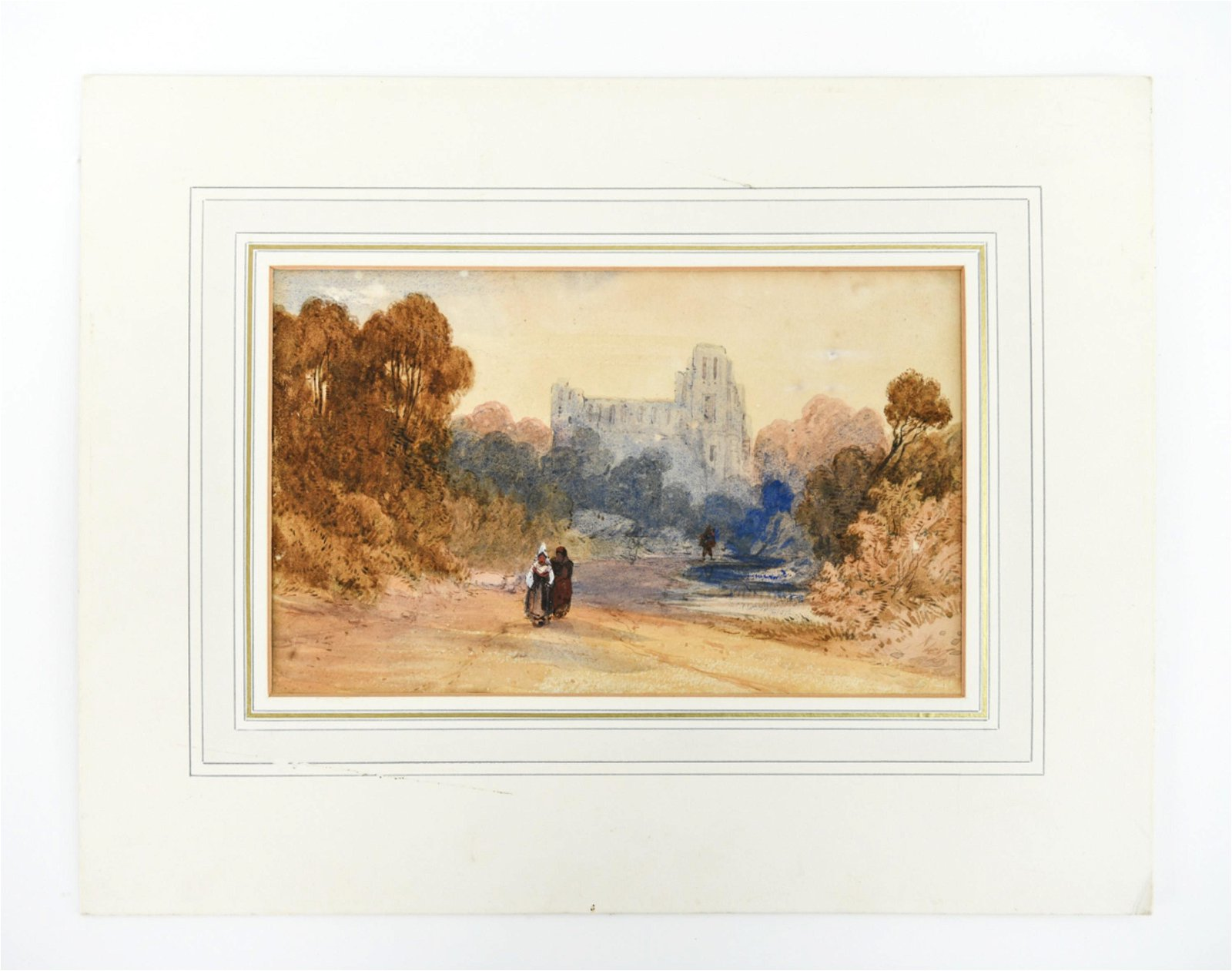 19TH CENTURY BRITISH WATERCOLOR, MIDDLE EAST VIEW