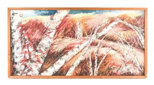 MIDCENTURY ABSTRACT LANDSCAPE OB