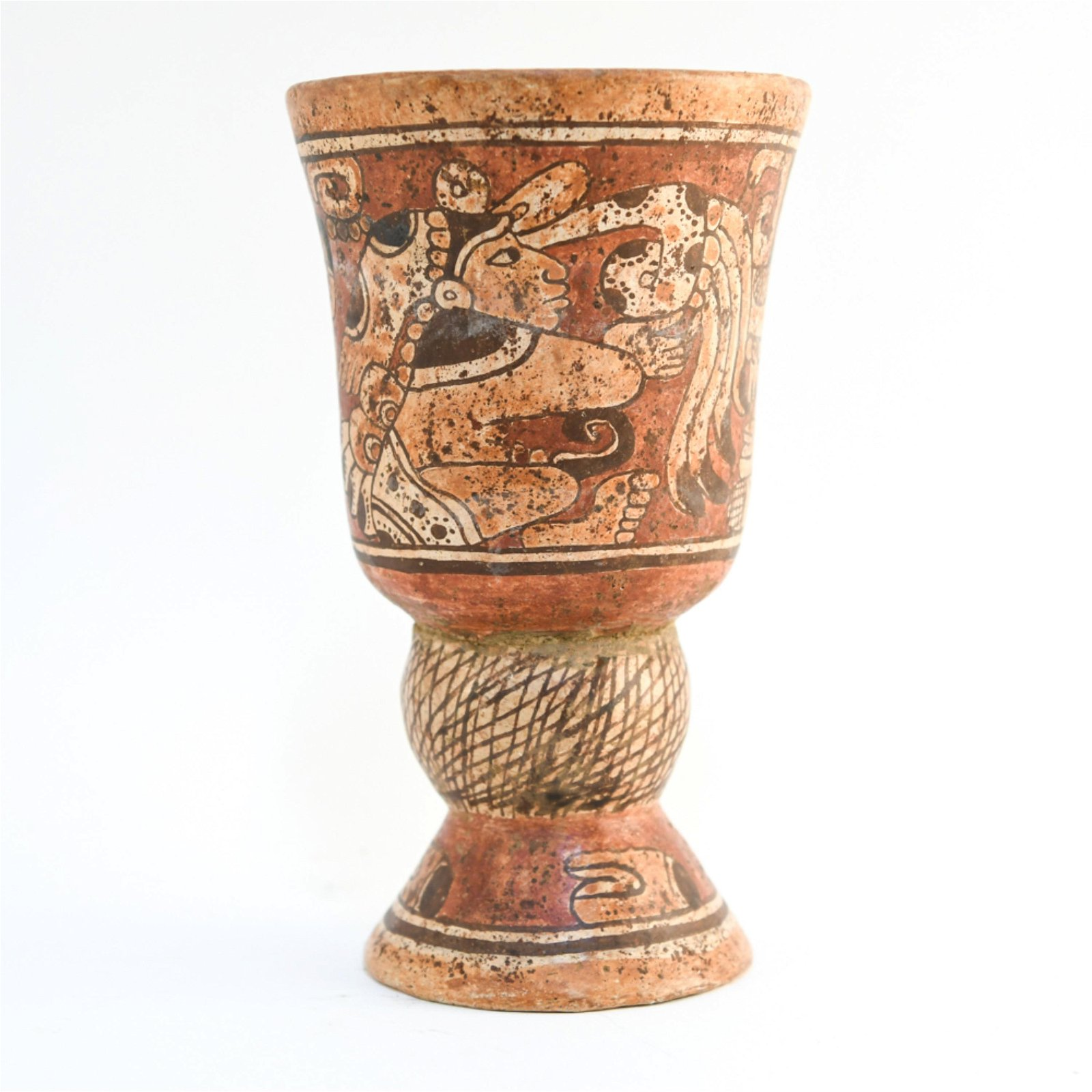 MAYAN STYLE CHALICE OR VASE