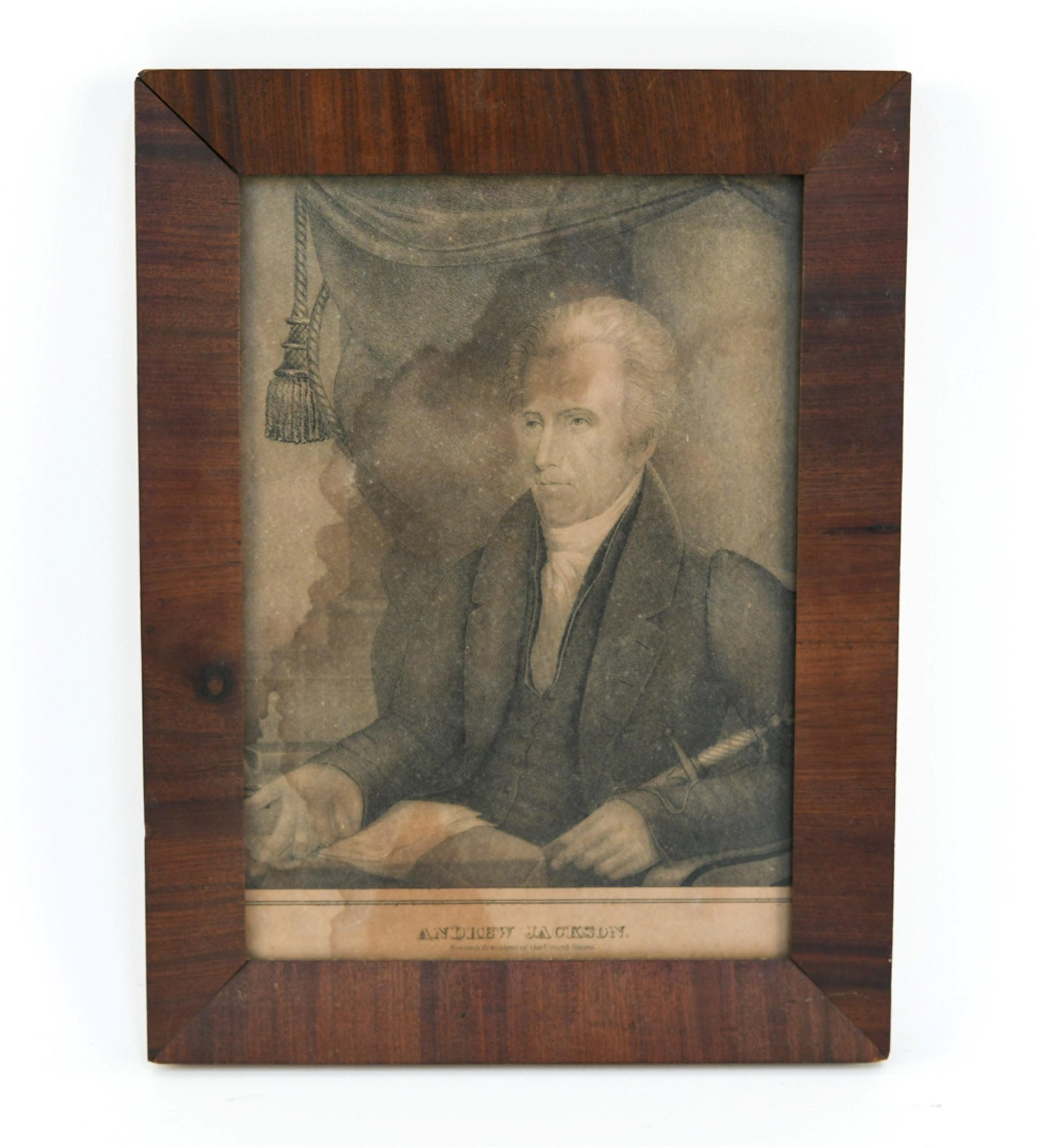 ANDREW JACKSON 19TH C. LITHOGRAPH