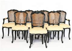 (8) FRENCH COUNTRY STYLE DINING CHAIRS