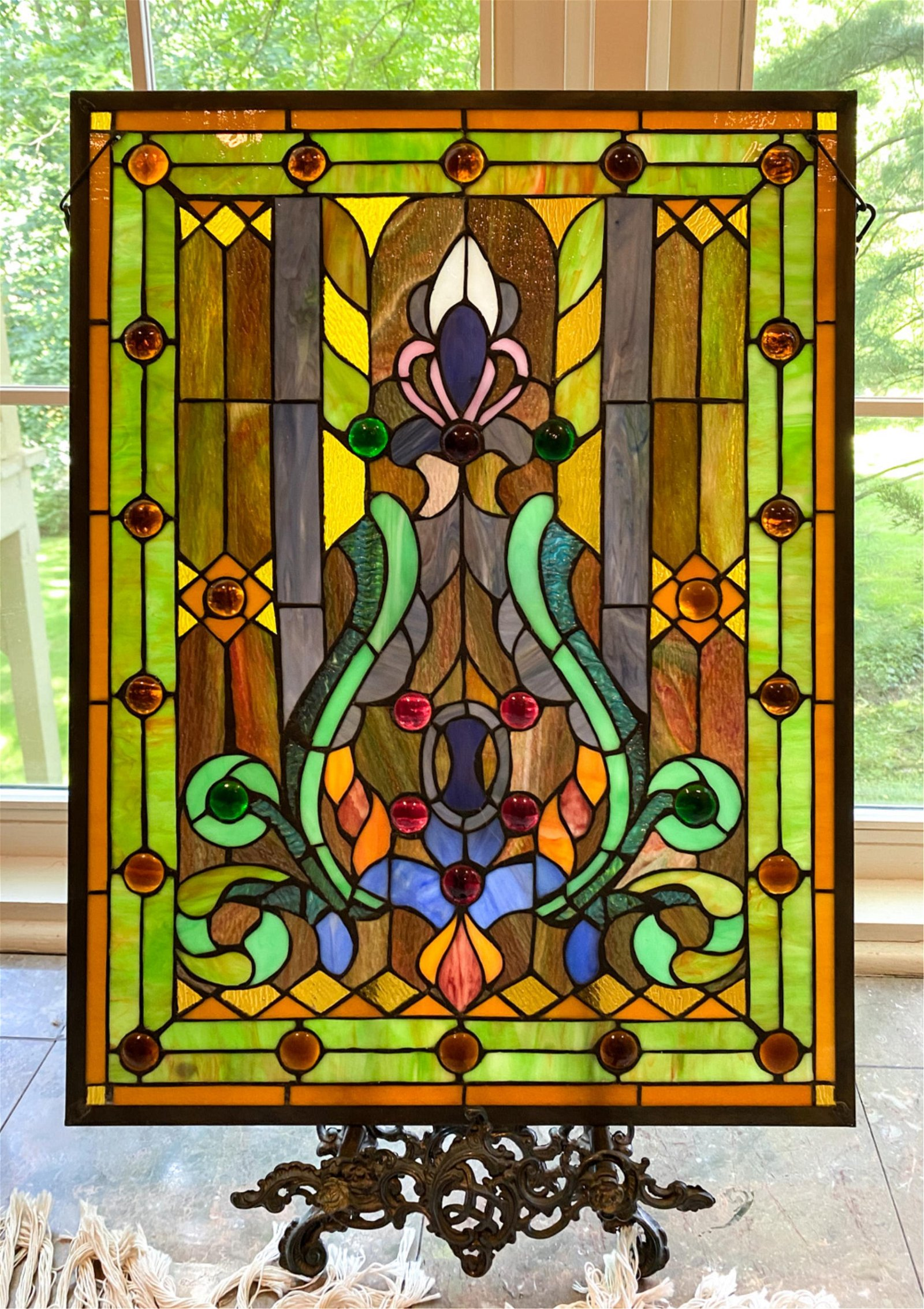 CONTEMPORARY STAINED GLASS WINDOW
