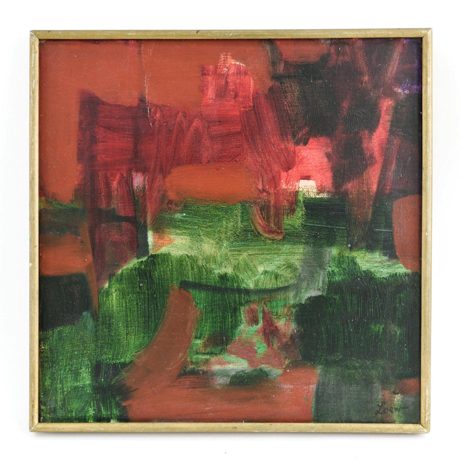 MICHAEL LOEW, AMERICAN (1907-1985) ABSTRACT O/C