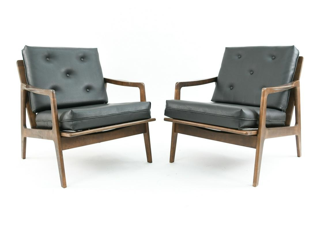 PAIR OF VINTAGE DANISH STYLE LOUNGE CHAIRS