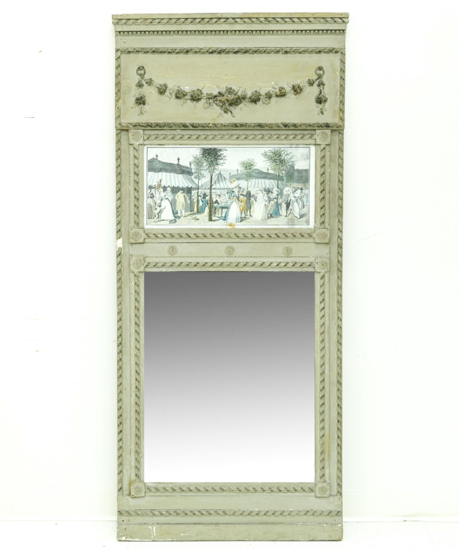 ANTIQUE FRENCH STYLE TRUMEAU MIRROR