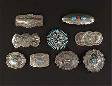 NATIVE AMERICAN STERLING SILVER BROOCHES PINS