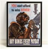 ORIGINAL WWII WAR BONDS POSTER
