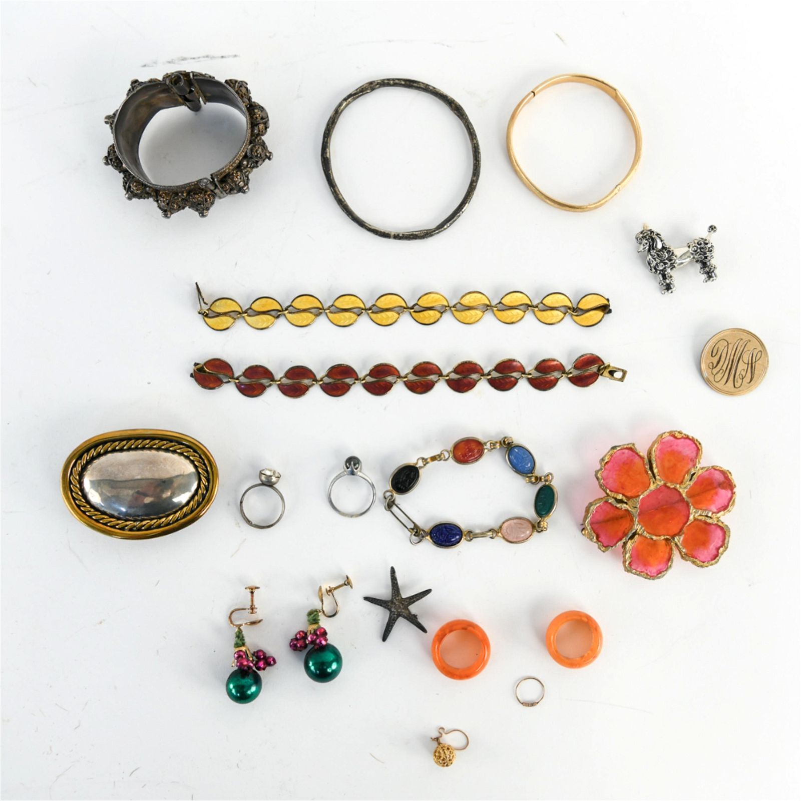 GROUPING OF JEWELRY INCL. STERLING & GOLD