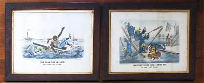 2 ORIGINAL CURRIER AND IVES DARKTOWN SERIES