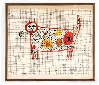 JOHN ROMBOLA, NEW YORK (20TH C.) MODERNIST CAT