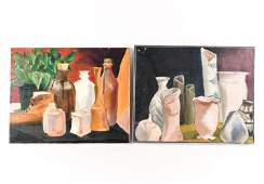 (2) MODERN STILL LIFE O/C PAINTINGS SIGNED